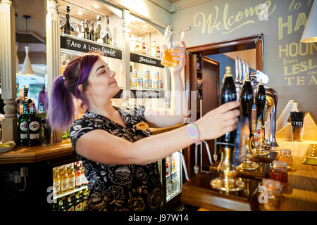 Hare and Hounds, Timperley in Gtr Manchester re-opens after a refurbishment to this popular carvery pub - Stock Photo