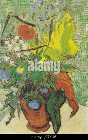 Van Gogh   Feldblumen und Disteln in einer Vase - Stock Photo