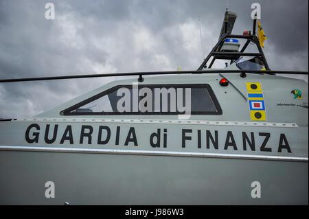Guardia di Finanza High speed patrol boat - Stock Photo