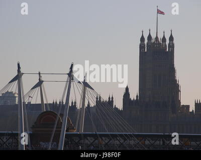 detail, houses, london, parliament, of, from, houses, sightseeing, london, - Stock Photo