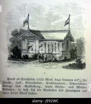 Schwedisches Holzhaus 1896 1 - Stock Photo