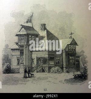 Schwedisches Holzhaus 1896 6 - Stock Photo