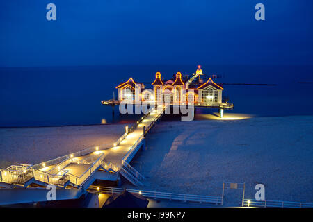 the famous pier of sellin - Stock Photo