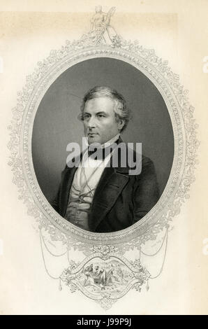 Antique c1860 engraving, Millard Fillmore. Millard Fillmore (1800-1874) was the 13th President of the United States - Stock Photo