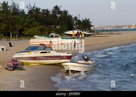 Boats in Mussulo island, Luanda Angola - Stock Photo