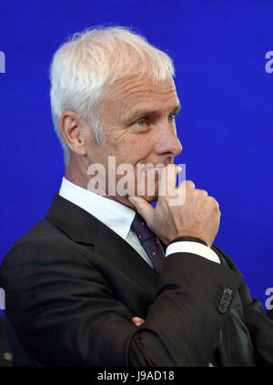 Berlin, Germany. 1st June, 2017. Matthias Müller, CEO of Volkswagen AG, pictured at the German Chancellery in Berlin, - Stock Photo