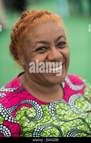 Hay Festival, Wales UK, Thursday 01 June 2017 PATRICE LAWRENCE, the winner of the 2017 The Booksellers YA (Young - Stock Photo