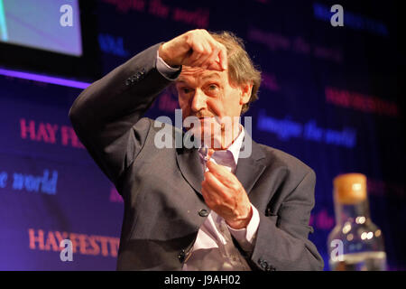 Hay Festival 2017 - Hay on Wye, Wales, UK - June 2017 - Roger Penrose one of the world's foremost theoretical physicists - Stock Photo