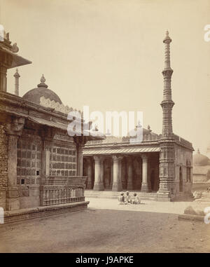Rani Sipri's Mosque and Tomb, Ahmedabad in 1872 - Stock Photo