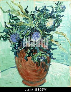 Van Gogh   Vase mit Blumen und Disteln - Stock Photo