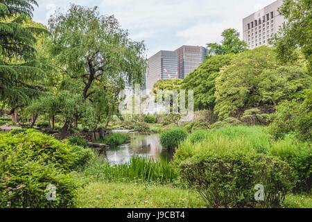 Hibiya Park (Hibiyakōen) in Chiyoda-ku, Tokyo, Japan | Hibiya Park (Hibiyakōen) in Chiyoda-ku, Tokyo, Japan - Stock Photo