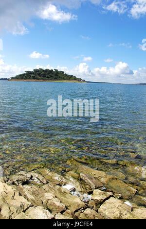 europe, calm, island, landscape, scenery, countryside, nature, water, isle, - Stock Photo