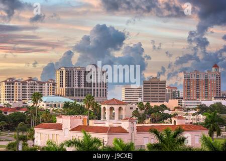 Sarasota, Florida, USA downtown skyline. - Stock Photo
