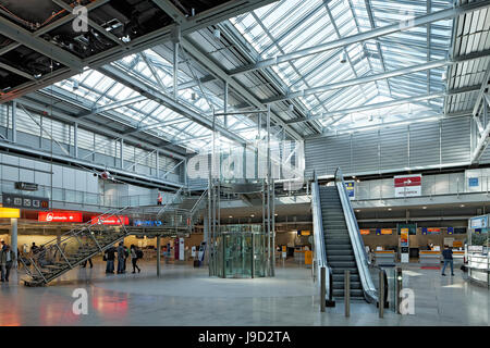 Albrecht Dürer airport, departure lounge, Nuremberg, Middle Franconia, Franconia, Bavaria, Germany - Stock Photo