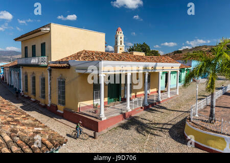 The Convento de San Francisco and Plaza Mayor, Trinidad, UNESCO World Heritage Site, Cuba, West Indies, Caribbean - Stock Photo