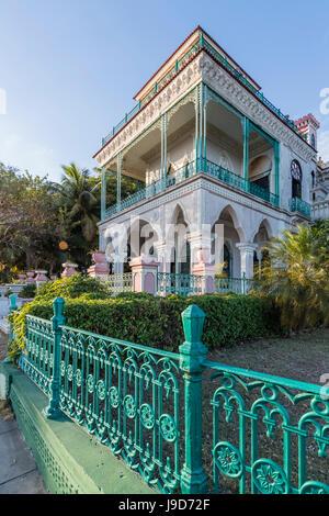 Exterior view of Palacio de Valle (Valle's Palace), Punta Gorda, Cienfuegos, Cuba, West Indies, Caribbean, Central - Stock Photo