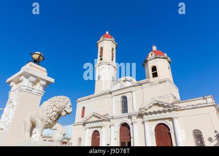 The Catedral de la Purisima Concepcion in Plaza Jose Marti, Cienfuegos, UNESCO World Heritage Site, Cuba, West Indies, - Stock Photo