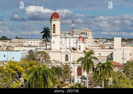 The Catedral de la Purisima Concepcion in Plaza Jose Marti, Cienfuegos, UNESCO World Heritage Site, Cuba, West Indies, - Stock Photo