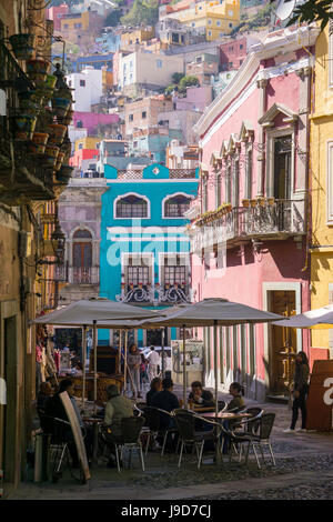 Street scene, Guanajuato, Mexico, North America - Stock Photo
