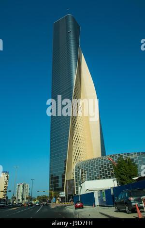 Al Hamra tower in Kuwait City, Kuwait, Middle East - Stock Photo