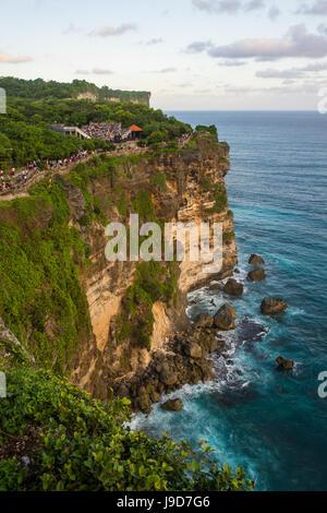 The sheer cliffs in the Uluwatu Temple (Pura Luhur Uluwatu) area, Uluwatu, Bali, Indonesia, Southeast Asia, Asia - Stock Photo