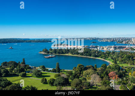 View over Sydney harbour, Sydney, New South Wales, Australia, Pacific - Stock Photo
