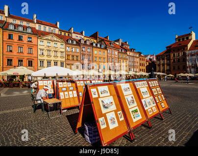 Old Town Market Place, Warsaw, Masovian Voivodeship, Poland, Europe - Stock Photo