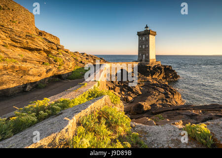 Kermorvan lighthouse, Le Conquet, Finistere, Brittany, France, Europe - Stock Photo