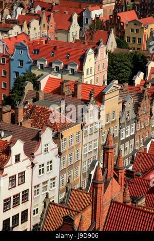 Old Town of Gdansk, Gdansk, Pomerania, Poland, Europe - Stock Photo