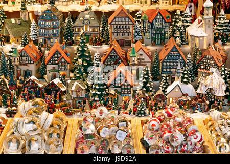 Christmas Market on Residenzplatz Square, Salzburg, Austria, Europe - Stock Photo
