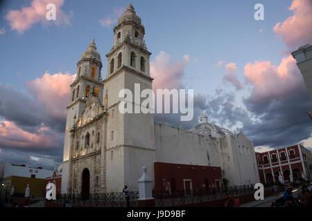 Cathedral de Nuestra Signora de Purisima Concepcion, Campeche, UNESCO World Heritage Site, Yucatan, Mexico, North - Stock Photo