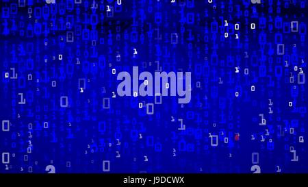 Binary Background. Running Numbers. Abstract Background. Vector Illustration - Stock Photo