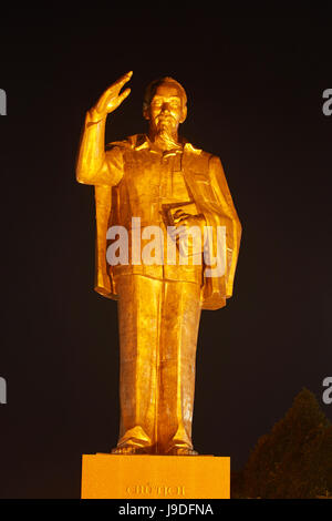 Ho Chi Minh Statue, Can Tho, Mekong Delta, Vietnam - Stock Photo