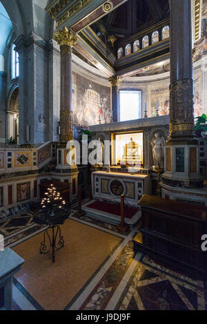 Rome. Italy. Basilica di San Pietro in Vincoli, reliquary containing the chains of St Peter beneath the main altar. - Stock Photo