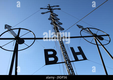 sign, signal, communication, wind direction, semaphore, sign, signal, water, - Stock Photo
