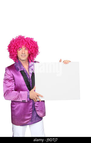male, masculine, costume, dress, fancy, man, gown, board, closeup, male, - Stock Photo