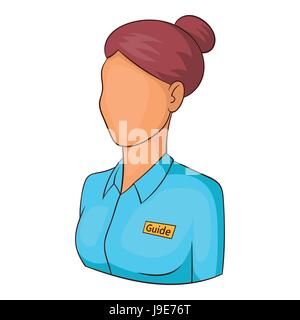 Museum guide icon, cartoon style - Stock Photo
