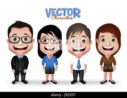 Vector Set of Groom and Party Characters Happy Smiling in Formal Dress Attire for Occasions Isolated in White Background. - Stock Photo