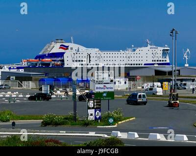 brittany ferries the bretagne ferry docked at st malo brittany stock photo royalty free. Black Bedroom Furniture Sets. Home Design Ideas