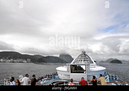 Views from & Transportation to and from Sugar Loaf Mountain - Rio de Janeiro, Brazil - 3/8/2011 - Stock Photo