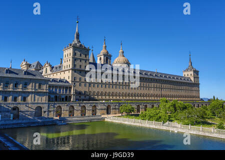 Spain, Madrid Community, El Escorial City, El Escorial Monastery, - Stock Photo