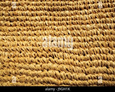 Wood handicraft weaved, plaited texture, pattern and design of Asian or Slavic style for background. - Stock Photo