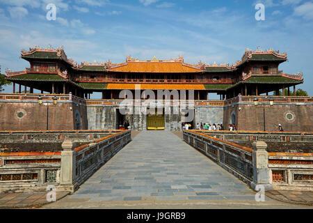 Ngo Mon Gateway at Historic Hue Citadel (Imperial City), Hue, North Central Coast, Vietnam - Stock Photo