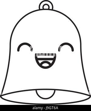 line icon Bell cartoon - Stock Photo