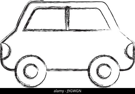 Sketch draw car cartoon stock photo