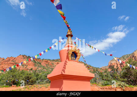 Amitabha Stupa in Sedona, Arizona - Stock Photo