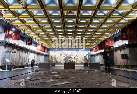 Saint Petersburg, Russia. 2nd June, 2017. View of an exhibition room at the monument for the defenders of the city - Stock Photo