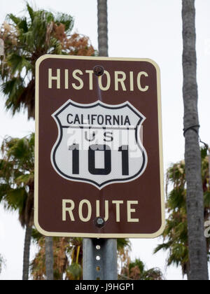 U.S. Route 101 sign in Encinitas, CA - Stock Photo