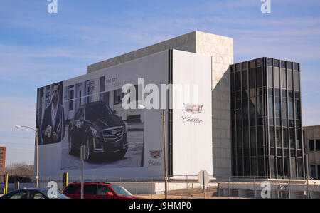 LANSING, MI - MARCH 26:  GM's Lansing Grand River Assembly plant, shown here on March 26, 2016, houses the Camaro, - Stock Photo