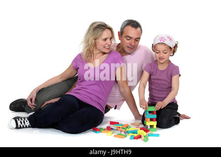 achievement, adroit, woman, tower, build, game, tournament, play, playing, - Stock Photo